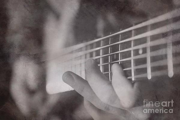 Fret Board Photograph - Bass Fingers by Casey Hanson