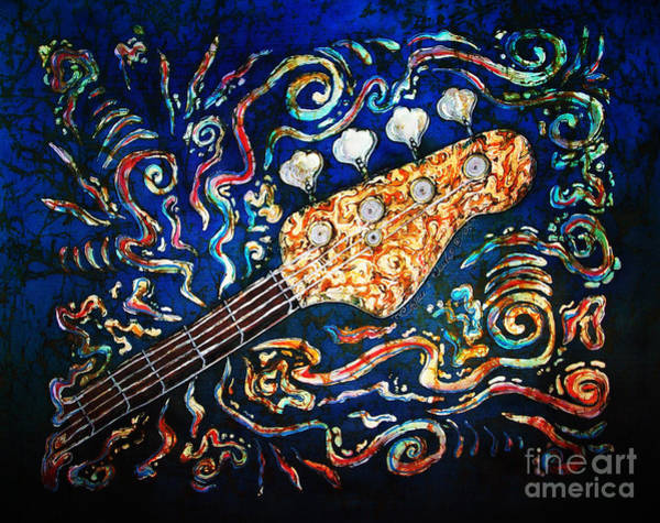 Country Living Painting - Bass Guitar  by Sue Duda