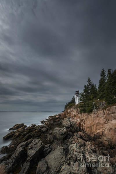 Dreary Photograph - Bass Harbor Head Lighthouse by Michael Ver Sprill