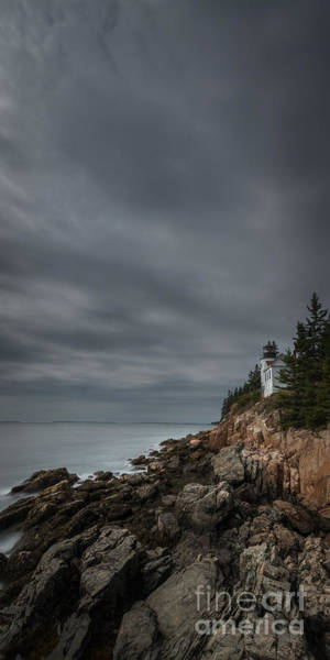 Dreary Photograph - Bass Harbor Head Lighthouse Slim Crop by Michael Ver Sprill