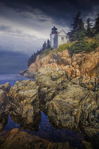 Photograph - Bass Harbor Headlight by Randall Nyhof