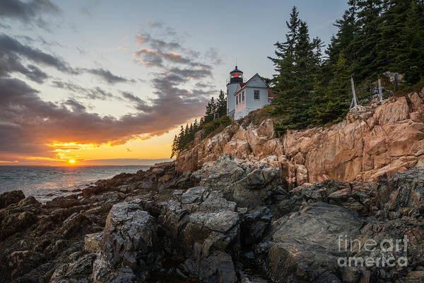 Mv Photograph - Bass Harbor Lighthouse Sunset by Michael Ver Sprill