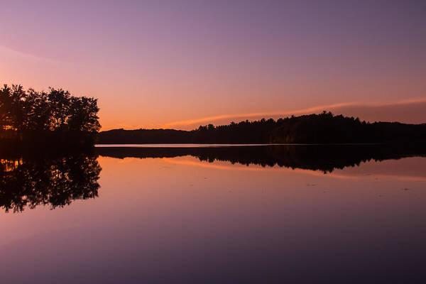 Sturgeon River Photograph - Bass Lake Glow by Robert Torkomian