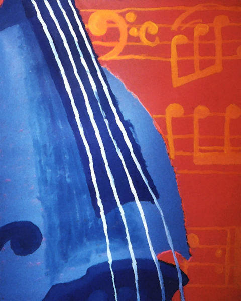 Blanton Wall Art - Painting - Bass Lessons Blues by Lisa A Bello