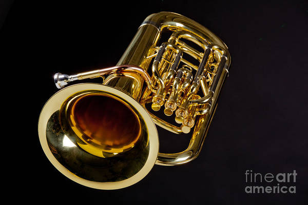 Wall Art - Photograph - Bass Tuba Brass Instrument Photo In Color 3396.02 by M K Miller