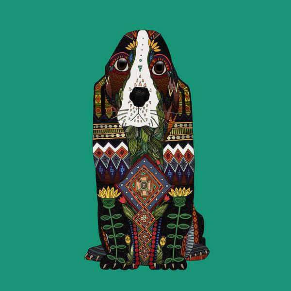 Hound Drawing - Basset Hound Jade by MGL Meiklejohn Graphics Licensing