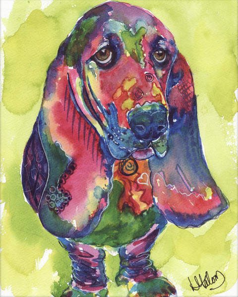 Painting - Basset Hound by Greg and Linda Halom