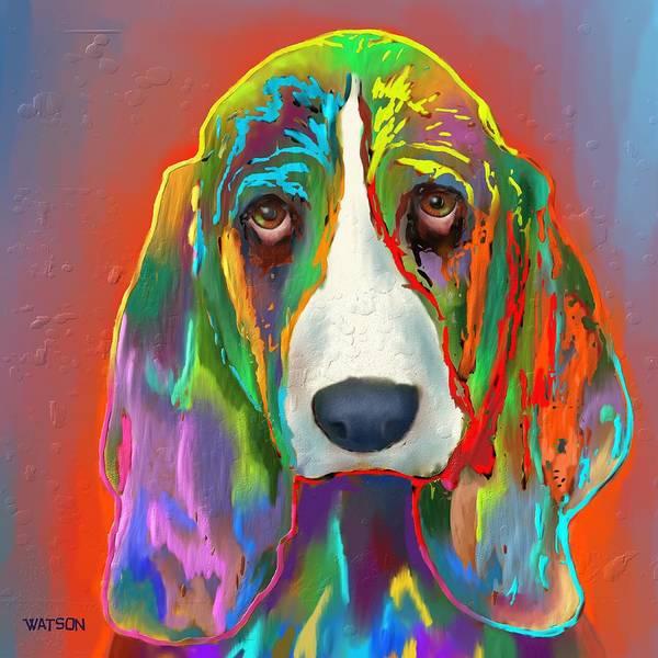 Basset Wall Art - Digital Art - Basset Hound by Marlene Watson