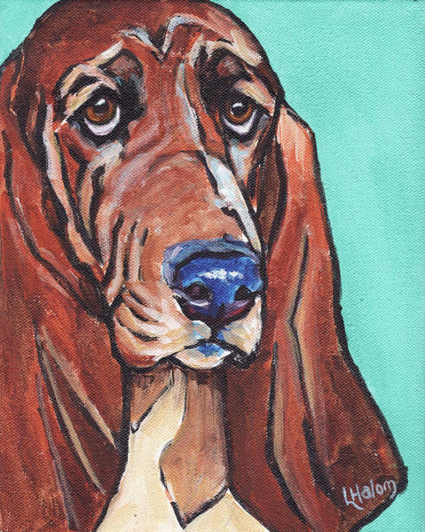 Painting - Basset II by Greg and Linda Halom