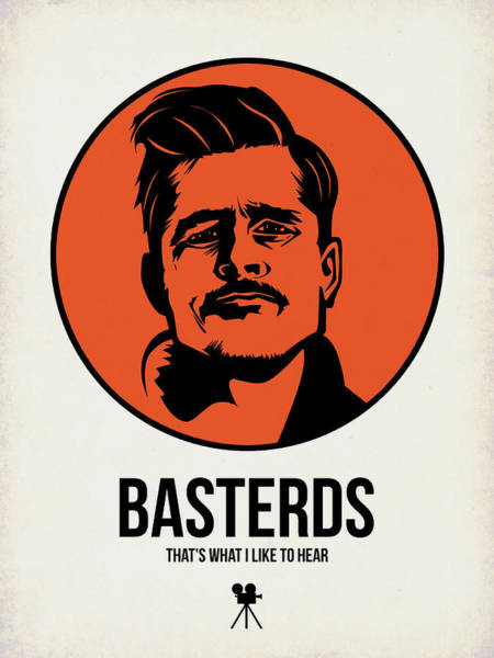 Movie Stars Wall Art - Digital Art - Basterds Poster 1 by Naxart Studio