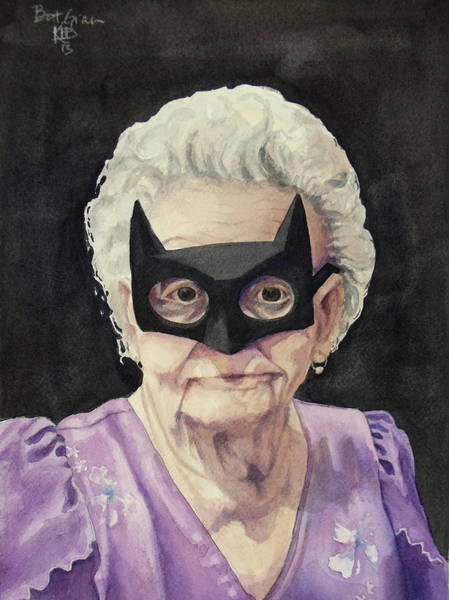 Bat Painting - Bat Gran by Kirsten Beitler
