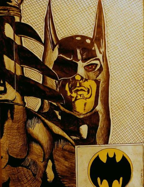Mixed Media - Bat Man by Dan Wagner
