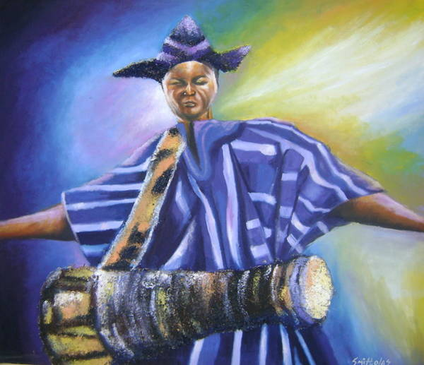 Nigeria Painting - Bata Drummer by Olaoluwa Smith
