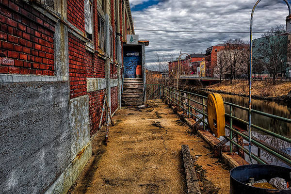 Photograph - Bates Mill Office Canal Street by Bob Orsillo