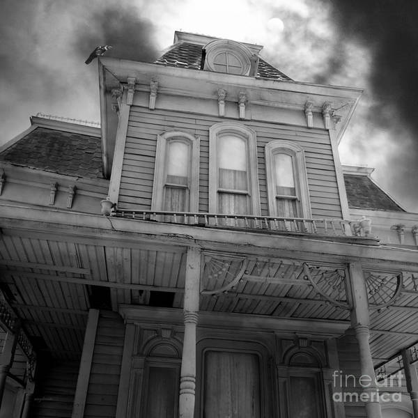 Photograph - Bates Motel 5d28867 Square Black And White by Wingsdomain Art and Photography