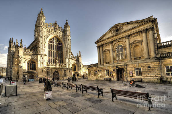 Bath Abbey Photograph - Bath Abbey And  Pump Rooms  by Rob Hawkins
