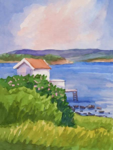Painting - Bath-house Summerday by Lutz Baar