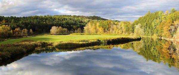 Photograph - Bath Nh Autumn Panorama by Luke Moore