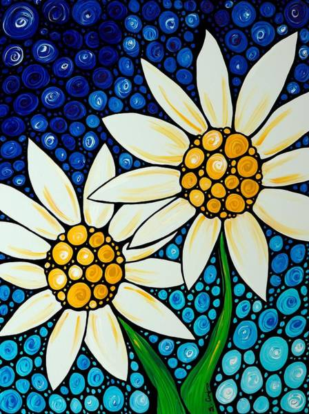 Daisies Painting - Bathing Beauties - Daisy Art By Sharon Cummings by Sharon Cummings
