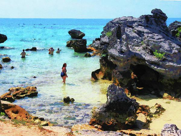 Photograph - Bathing In The Ocean St. George Bermuda by Susan Savad