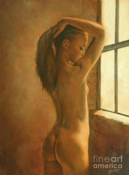 Painting - Bathing In The Window's Light I by John Silver