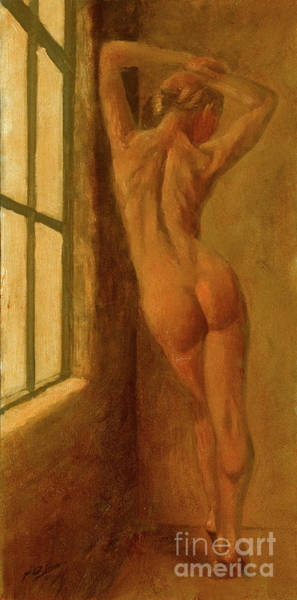 Painting - Bathing In The Window's Light by John Silver