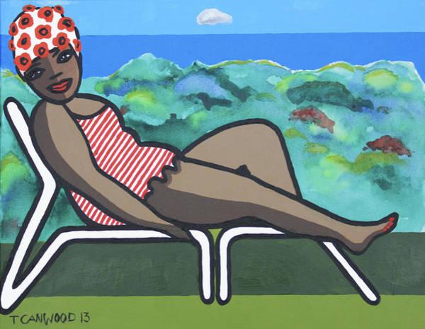 Us Virgin Islands Painting - Bathing Suit 3 by Trudie Canwood
