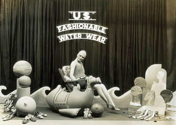 Mccormick Wall Art - Photograph - Bathing Suits Store Display by Underwood Archives