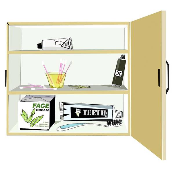 Controversial Wall Art - Photograph - Bathroom Cabinet by Sharpenson Ltd/science Photo Library
