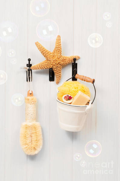 Bubble Bath Photograph - Bathroom Door by Amanda Elwell