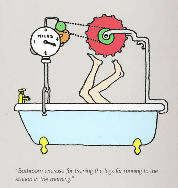 Wall Art - Photograph - Bathroom Exercise Machine By W. Heath Robinson by Adam Hart-davis/science Photo Library