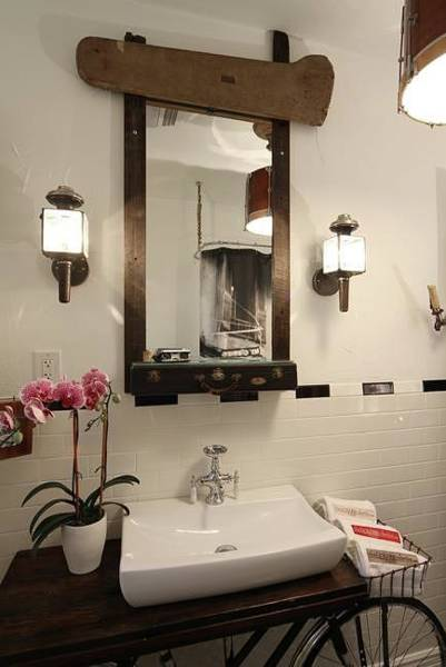 Wall Art - Mixed Media - Bathroom Mirror 01 by Benjamin Bullins
