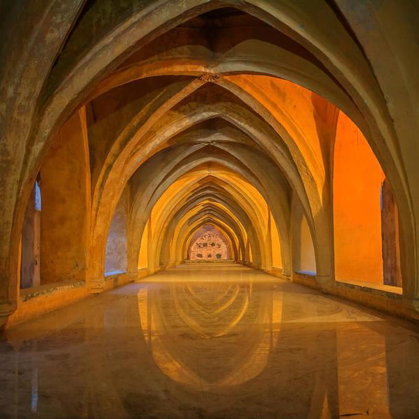 Grottos Photograph - Baths At Alcazar Seville by Joan Carroll