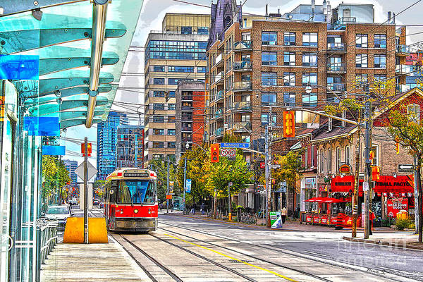 Toronto Blue Jays Photograph - Bathurst Street Car Coming North To Queen Street by Nina Silver