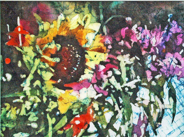 Painting - Batik Sunflower 1 by Diane Fujimoto
