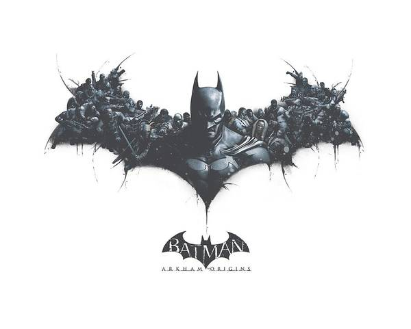 Batman Digital Art - Batman Arkham Origins - Bat Of Enemies by Brand A