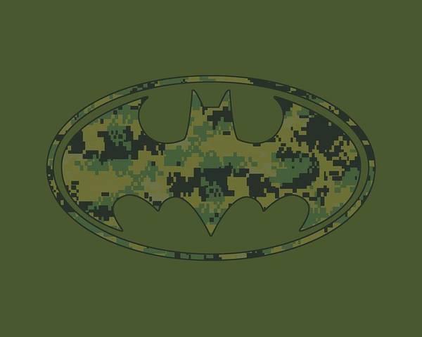 Batman Digital Art - Batman - Marine Camo Shield by Brand A