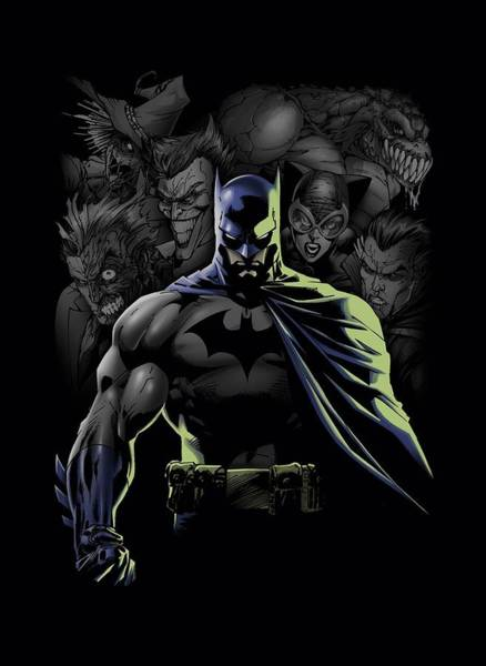 Batman Digital Art - Batman - Villains Unleashed by Brand A