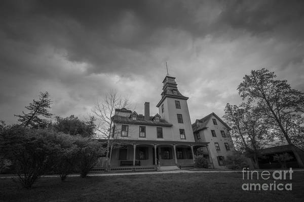 Michael Photograph - Batsto Village Mansion Bw by Michael Ver Sprill