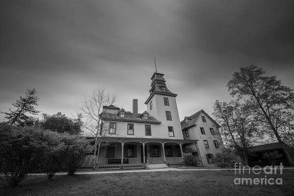 Michael Photograph - Batsto Village Mansion Long Exposure Bw by Michael Ver Sprill