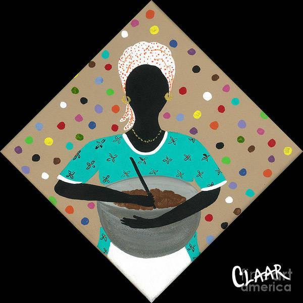 Gullah People Wall Art - Painting - Batter by Samantha Claar