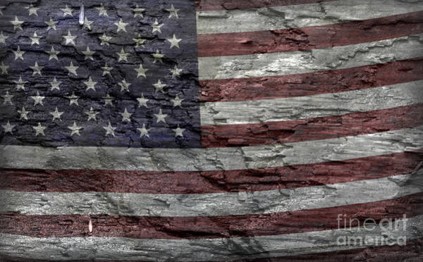 Wall Art - Photograph - Battered Old Glory by John Stephens
