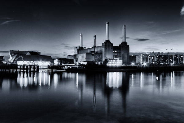 Power Station Wall Art - Photograph - Battersea Blues by Ian Hufton