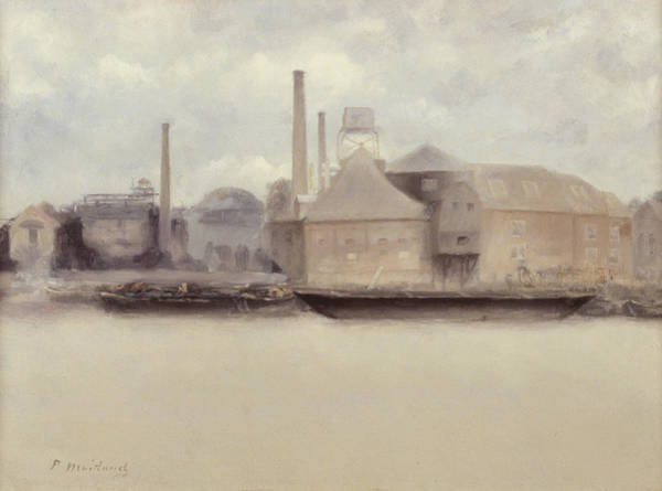 Power Station Wall Art - Painting - Battersea Reach by Paul Fordyce Maitland