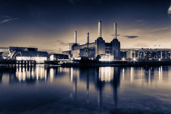 Power Station Wall Art - Photograph - Battersea Toned by Ian Hufton