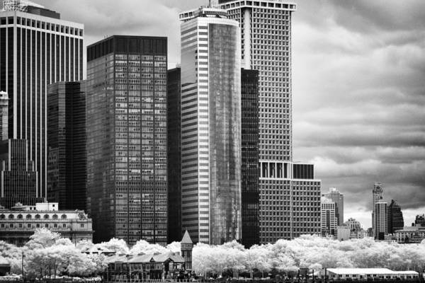 Photograph - Battery Park Bw Ir by Dave Beckerman