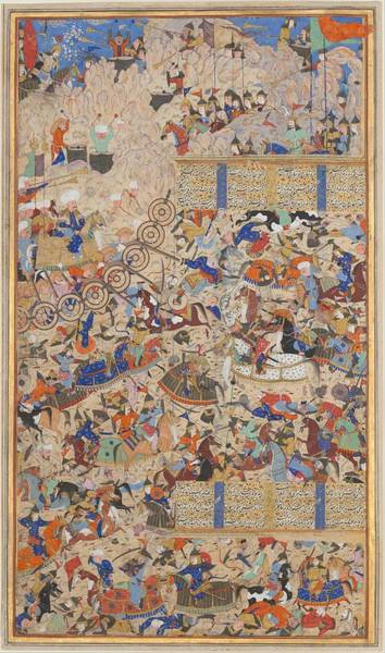 Painting - Battle Between Iranians And Turanians by Celestial Images