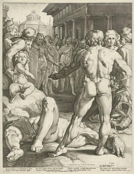 Bystander Drawing - Battle Between Ulysses And Irus by Jan Harmensz. Muller And Gerard Van Keulen And Franco Estius