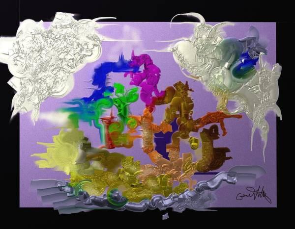 Painting - Battle by Eugene Foltuz