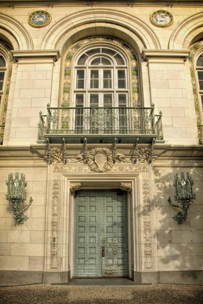 Photograph - Battle Hall Door University Of Texas by Joan Carroll